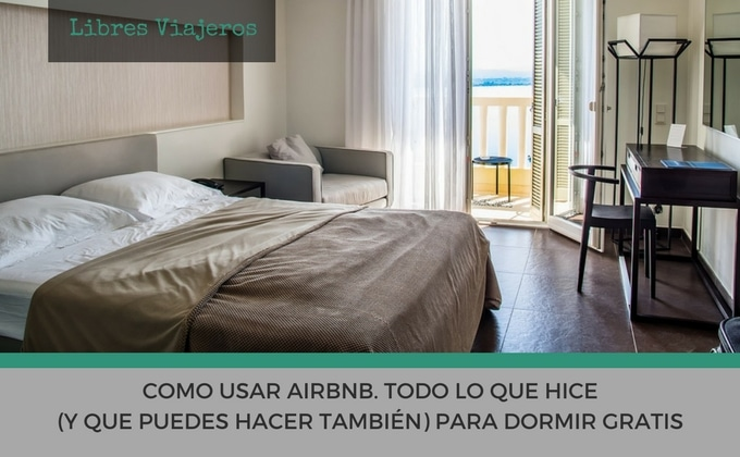 como usar airbnb para dormir gratis