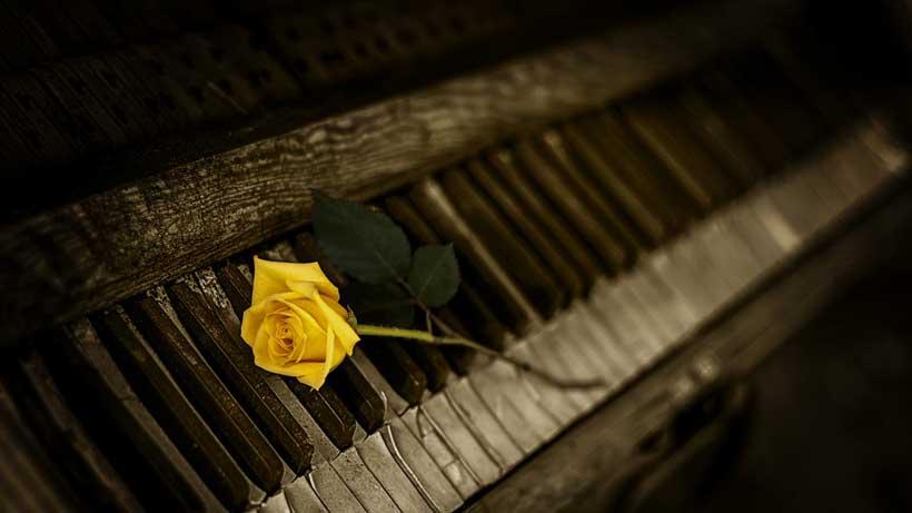 Las teclas de un piano