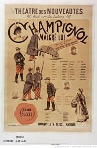 Théâtre des Nouveautés. Affiche de Paul Maurou, 1893.