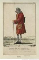 Voltaire dessiné le jour de son couronnement à la Représentation d'Irene, par Le Vachez. Source : BnF/Gallica