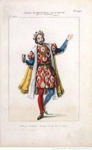 Costume de Drouville dans le rôle d'Hatto. 1843. Source : BnF/Gallica