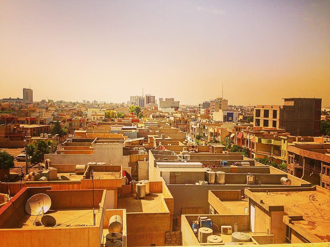 Erbil, Kurdistan irakien, Irak. Vue sur Erbil au petit matin.