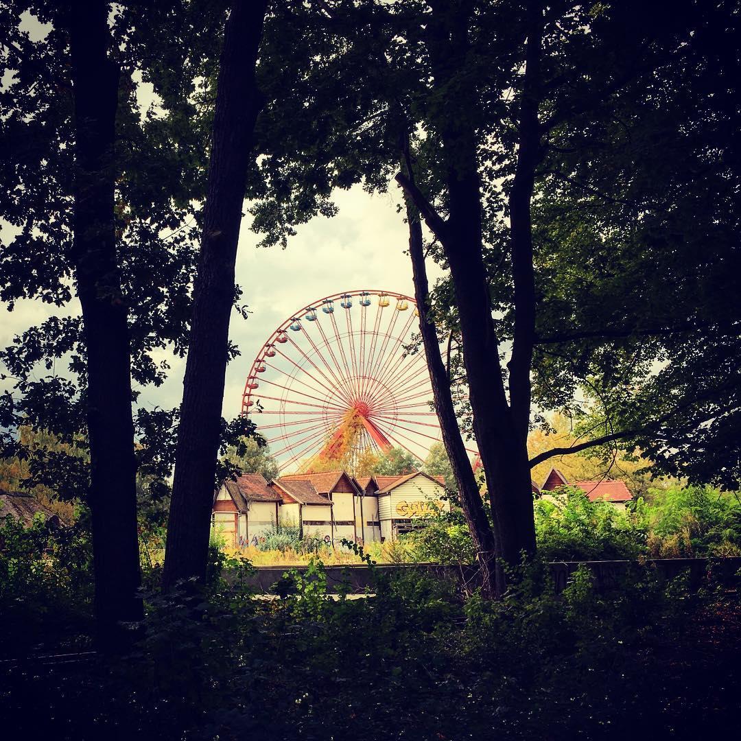 Berlin, Allemagne. Spreepark, parc d'attractions abandonné.