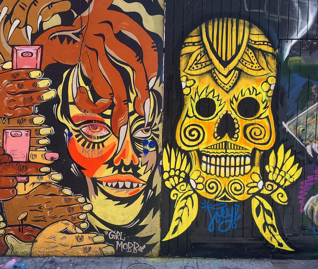 San Francisco, Californie, États-Unis d'Amérique. Street art dans Clarion Alley.