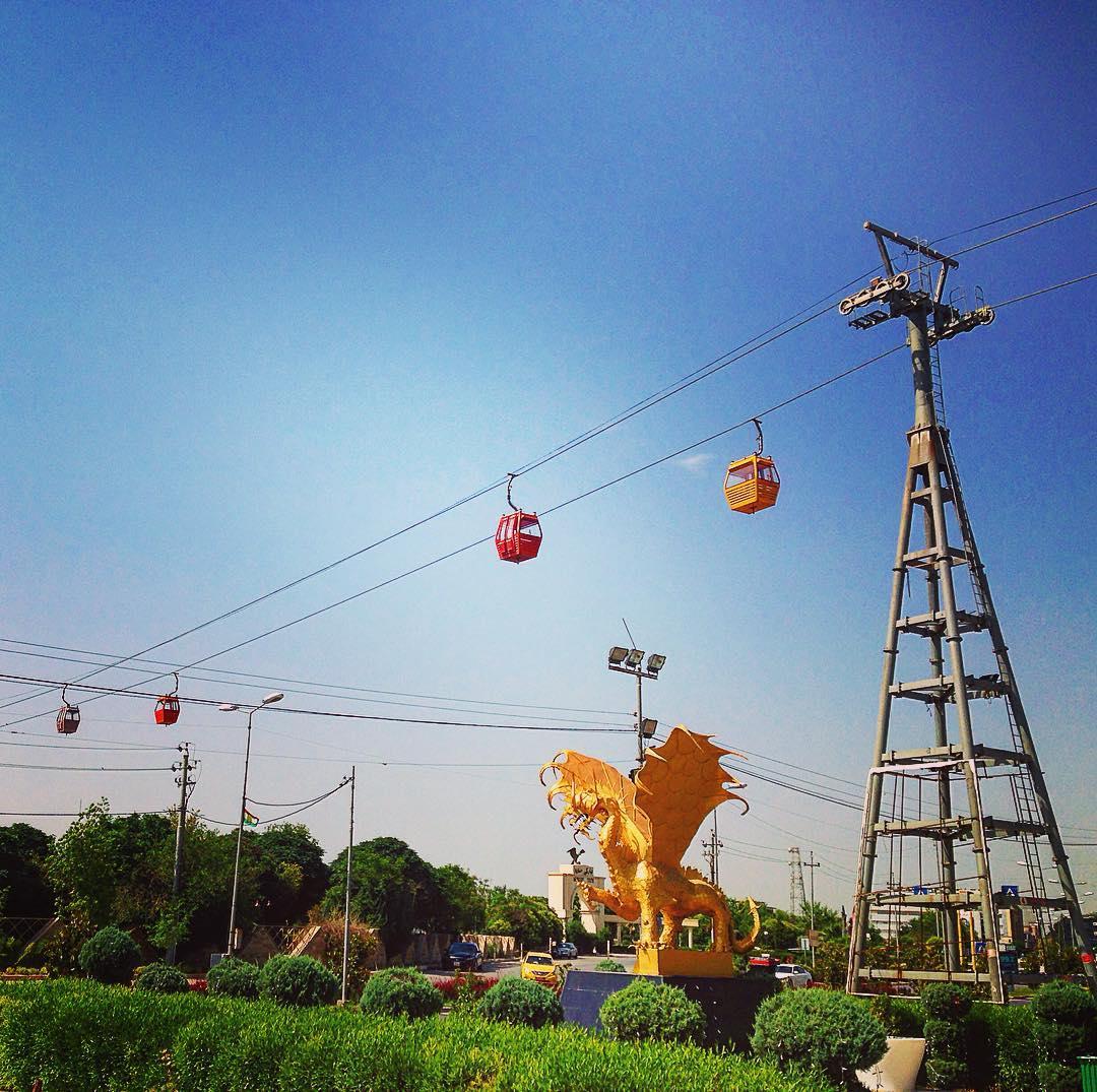 Erbil, Kurdistan irakien, Irak. Il y a curieusement un téléphérique à Erbil.