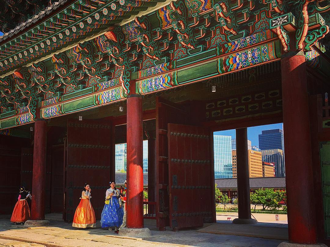 Séoul, Corée du Sud. Costumes, hanbok.