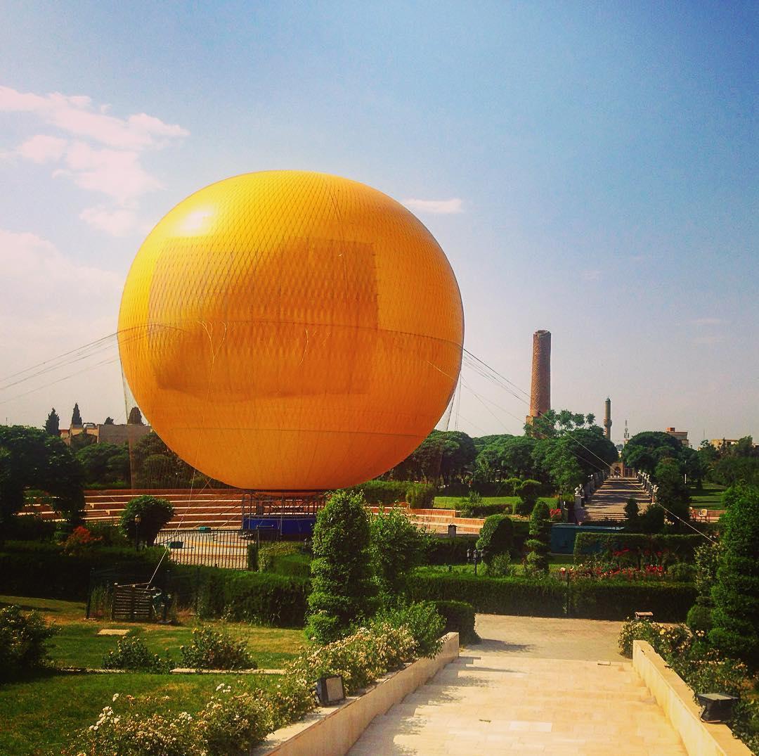 Erbil, Kurdistan irakien, Irak. Ballon captif.