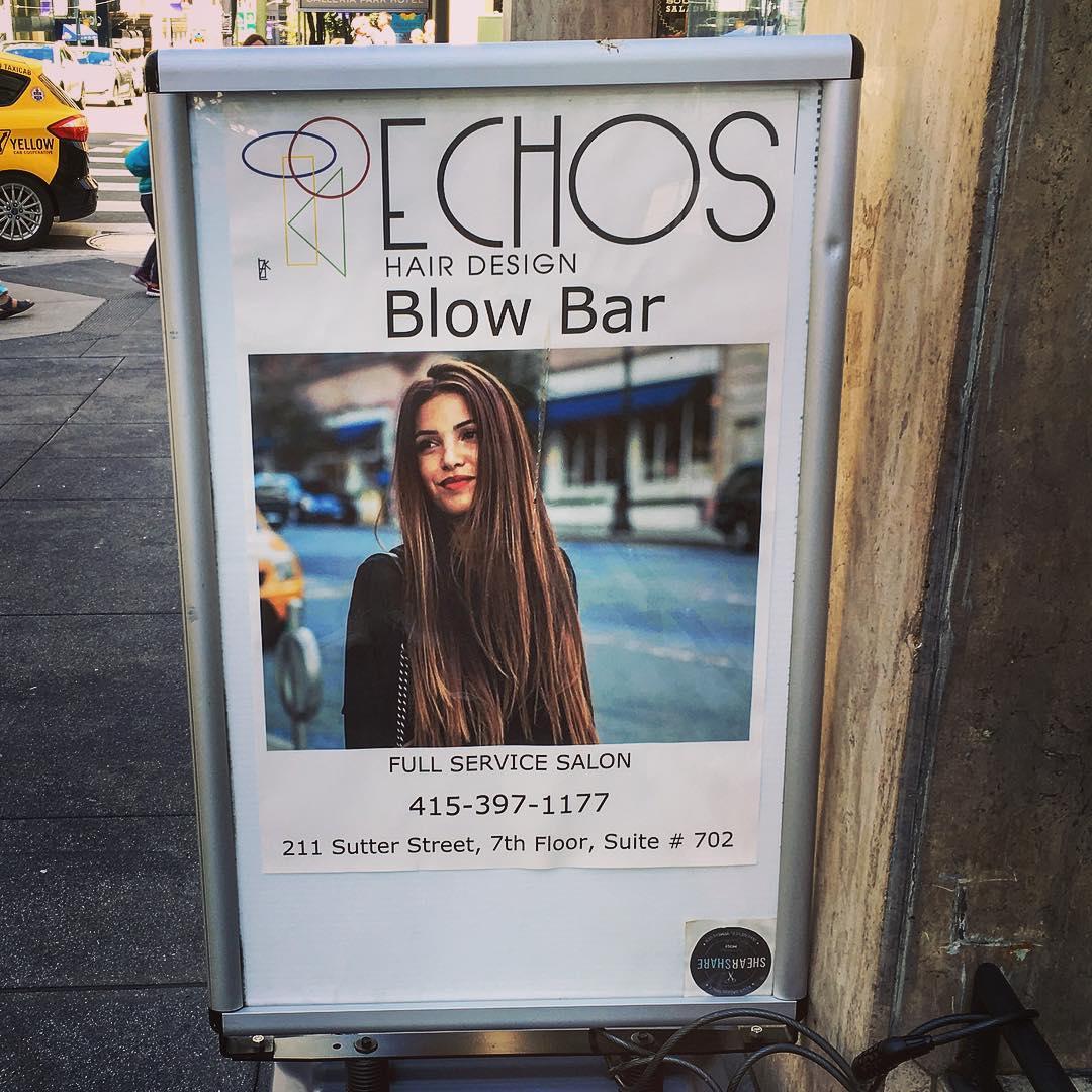 San Francisco, Californie, États-Unis d'Amérique. « Blow bar ». « Full service salon ». Relativisme culturel.