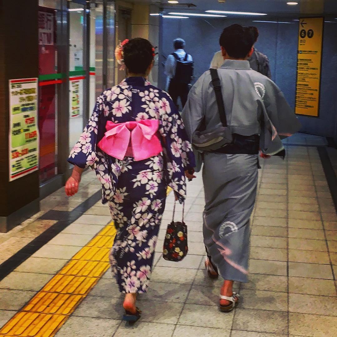 Osaka, Japon. Dans le métro d'Osaka.