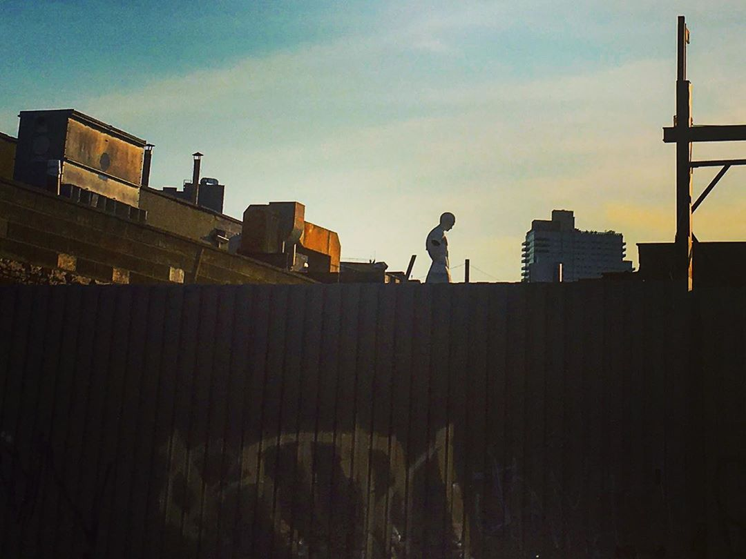 Brooklyn, New York, États-Unis. Silhouette.