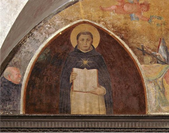 St. Thomas Aquinas holding the Summa Theologica, Fra Angelico, Museo di San Marco dell'Angelico, Florence, Italy