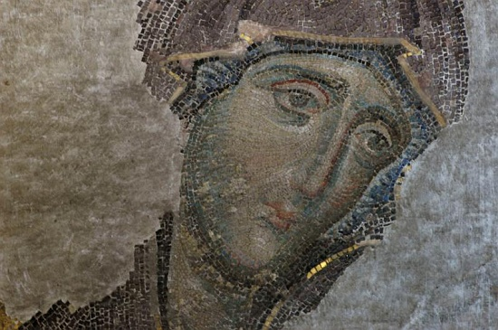 Virgin Mary, 13th-century Deësis Mosaic, Hagia Sophia, Istanbul