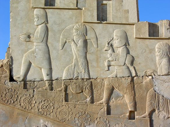 Bas-relief of tribute bearers, c. 486 BC, Tachara Palace of Darius I, Persepolis, Iran.