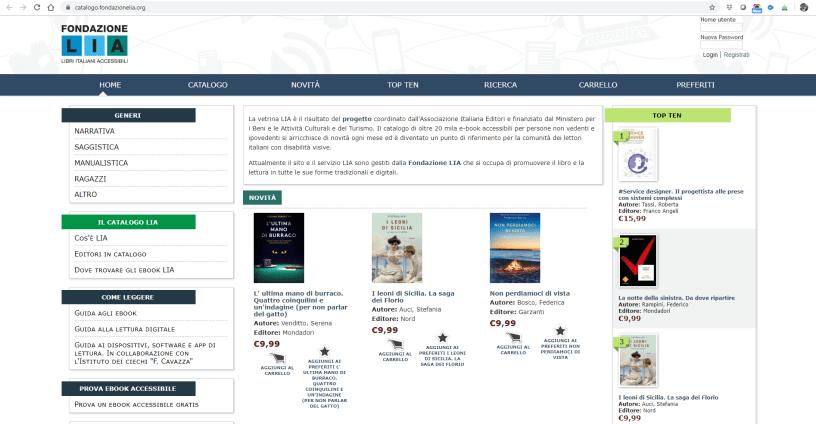 Catalogo dei libri LIA