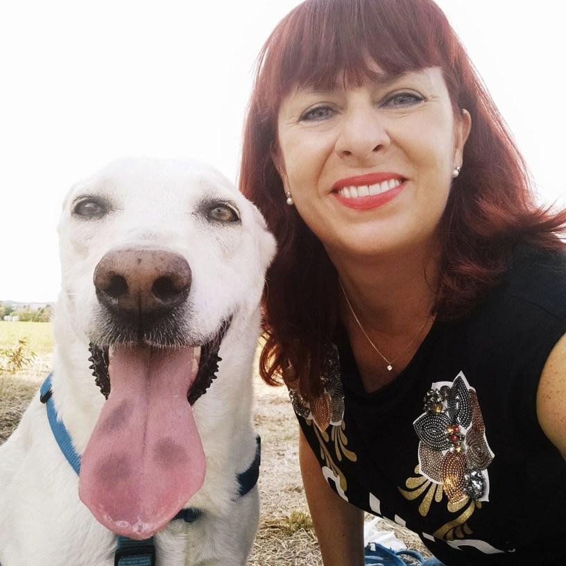 Francesca Fughelli Libringioco e il suo cane sofia