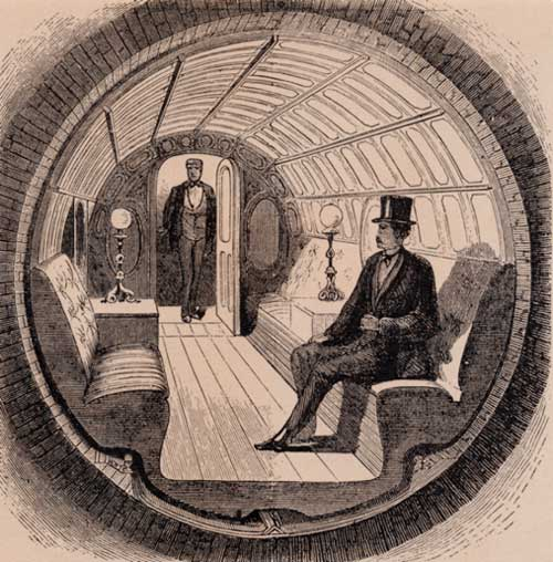 Alfred-Ely-Beachs-pneumatic-train-car-as-it-originally-appeared-in-an-1870-issue-of-Scientific-American