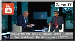 Talk Spezial mit Prof. Dr. Sucharit Bhakdi | Corona: Nur Fehlalarm?