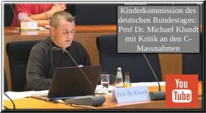 Kinderkommission des deutschen Bundestages | Prof Dr. Michael Klundt mit Kritik an den C-Massnahmen