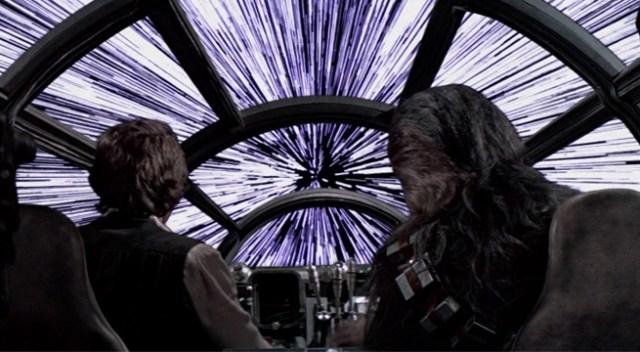 Il salto nell'Iperspazio di Star Wars