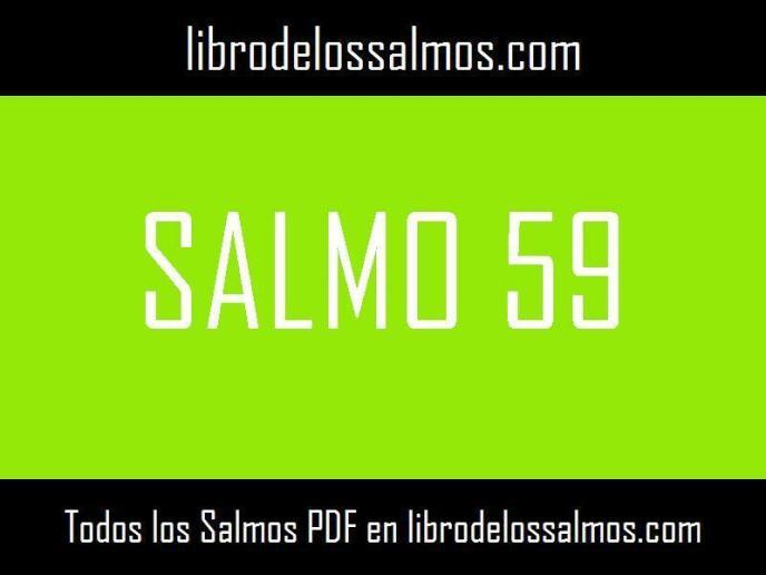 🥇 Salmo 59 【Descargable en PDF】® Libro de los Salmos