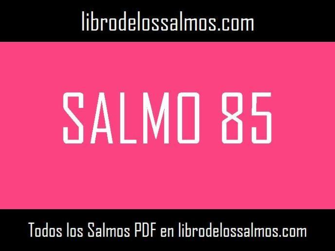 salmo 85