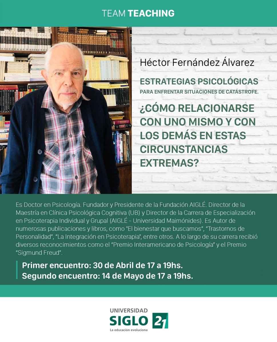 Conferencia Psicologia Siglo21 Coronavirus Fernandez Alvarez