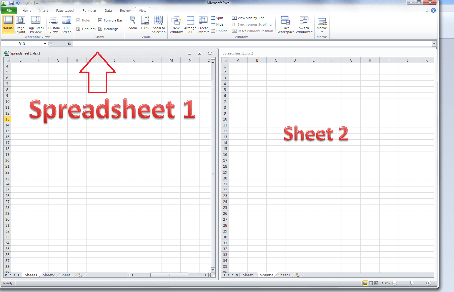How Do I View Two Excel Spreadsheets At A Time