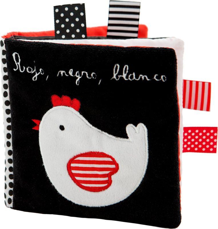 Rojo, negro, blanco (Español) Libro de tela