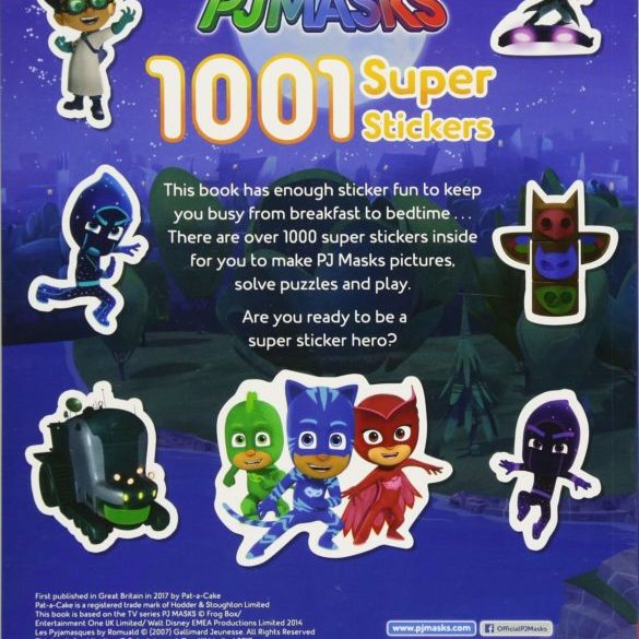 1001 Super Stickers (PJ Masks) (Inglés) Tapa blanda