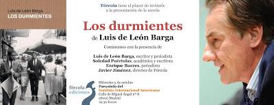 La «falta de lealtad» guía «Los durmientes», la nueva novela de Luis de León Barga