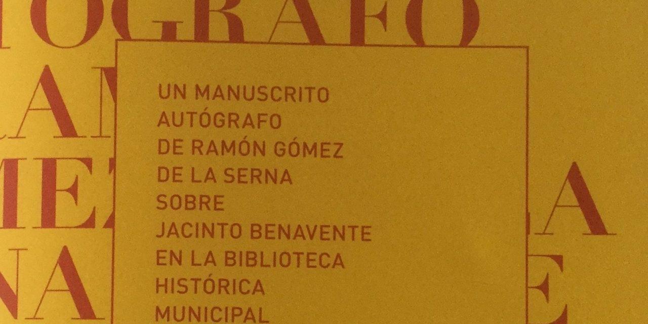 Semblanza de Jacinto Benavente por Ramón Gómez de la Serna