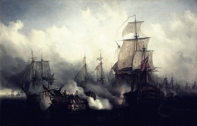 Trafalgar, con firma de Galdós.