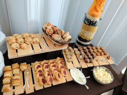 Breakfast pastry selection