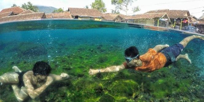 Tempat Wisata Mata Air Cikoromoy Banten