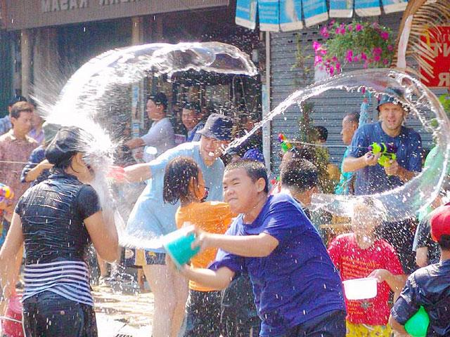 It's like this is the excitement of the Songkran Festival in Thailand.