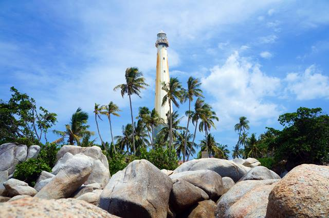 Lighthouse on Lengkuas Island is the idol of tourists visiting Belitung.