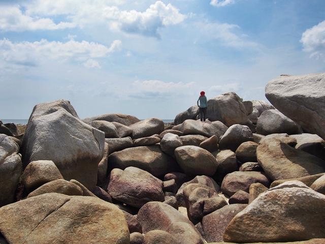 bebatuan granit raksasa bisa jadi latar foto yang bagus