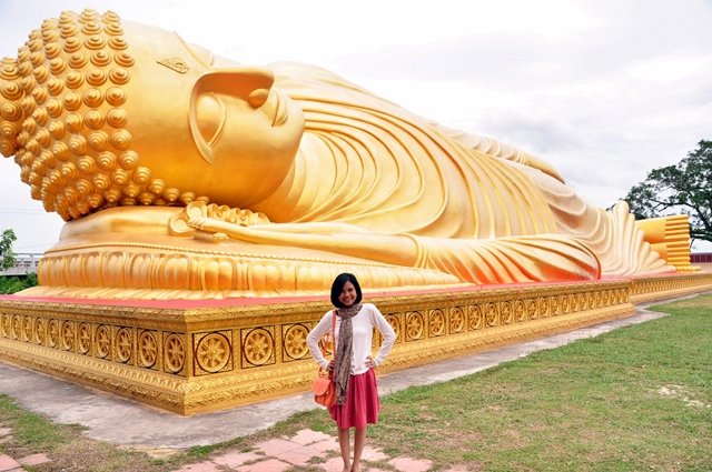 Sleeping Buddha di Hatyai, Thailand