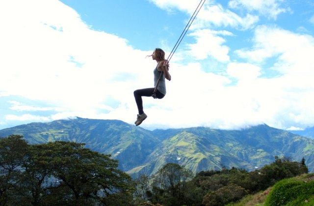 Swing to the End of the World! Like the Cool Swing in Baños, Ecuador!
