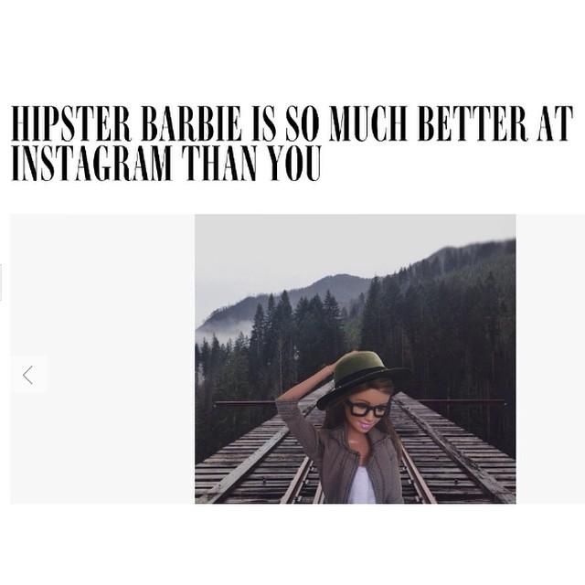 Hipster barbie!