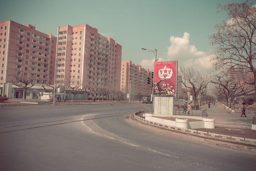 Jalanan di Korea Utara