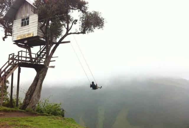 Swinging here, it feels like flying.
