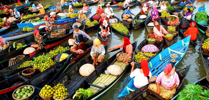 South Kalimantan (Kalimantan Selatan) - Pasar TerapungSouth Kalimantan (Kalimantan Selatan) - Pasar Terapung