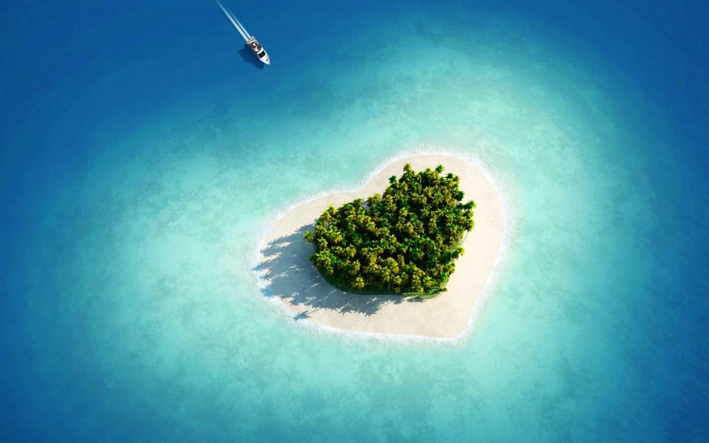 Pulau berbentuk hati di Maldives