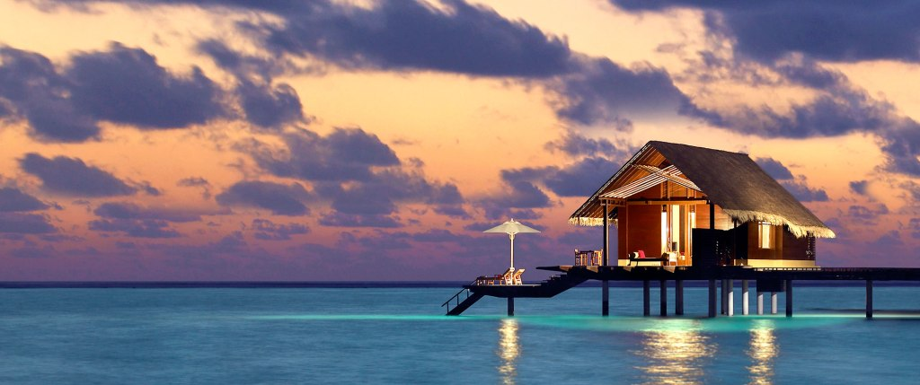 Senja di Maldives itu keceh sekali!