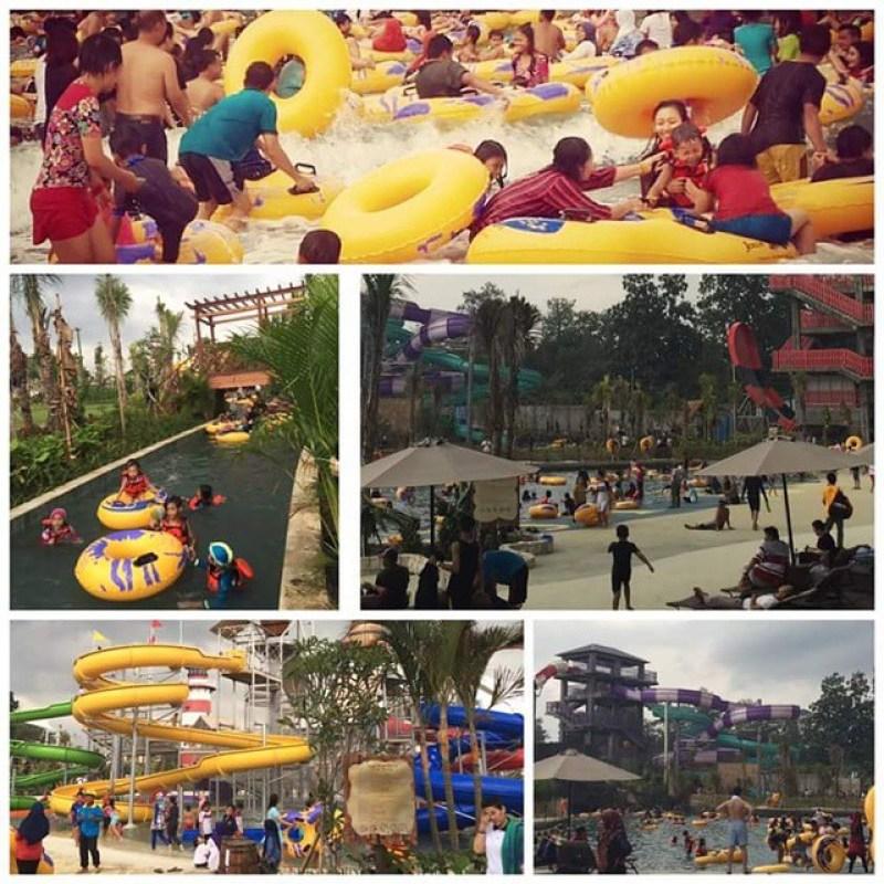 Suasana kegembiraan di Jogja Bay Waterpark terbesar di Indonesia