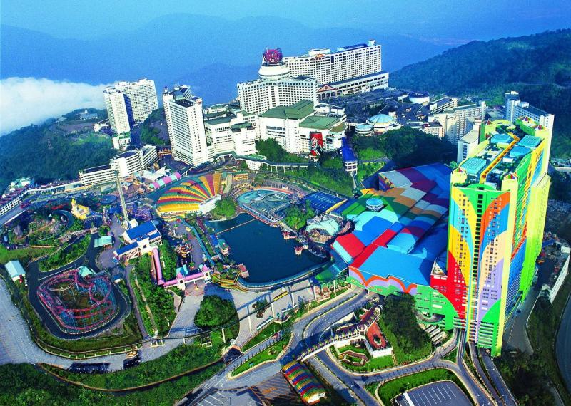 Genting highlands from the air