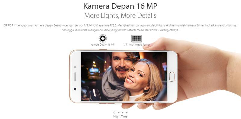Kamera depan 16 MP, selfie sekarang pasti berkualitas, dan tentunya bikin puas!