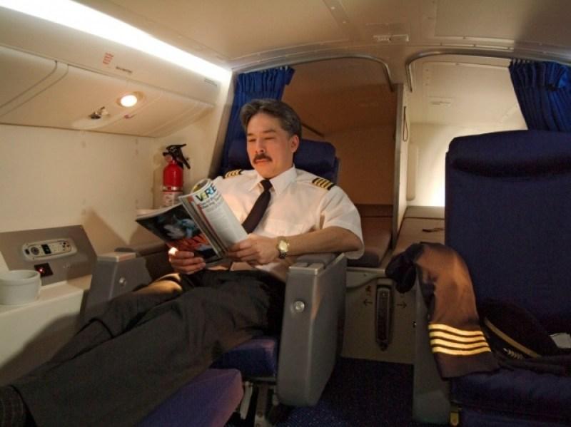 Ada juga tempat beristirahat pilot yang seperti ini