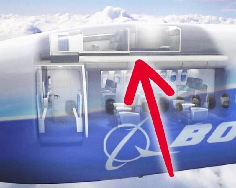 Di pesawat besar seperti boeing 787 dan 777 disini nih lokasinya